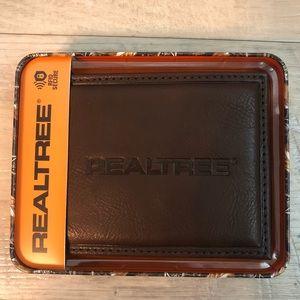 REALTREE Brown Leather RFID Secure Wallet